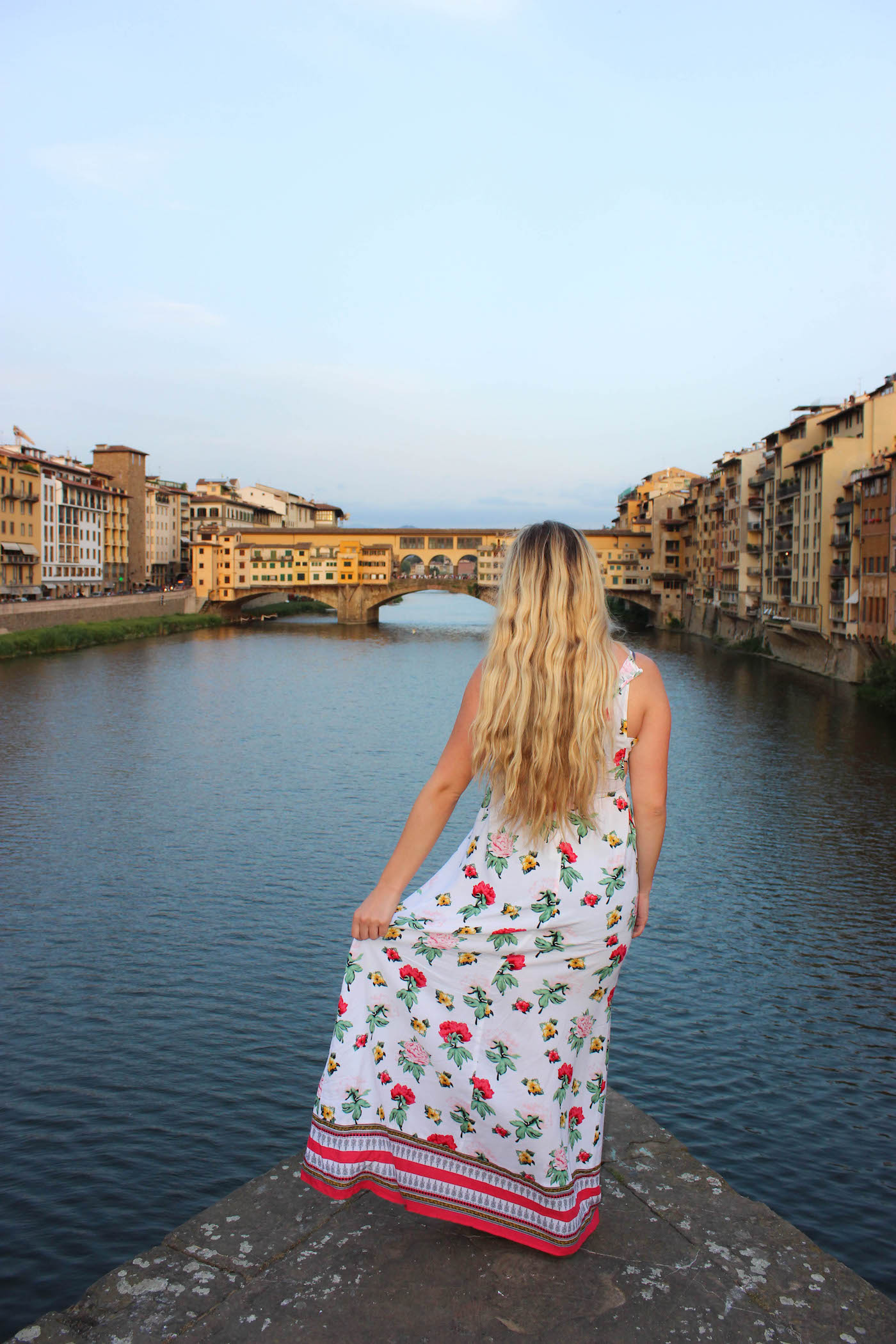 Floral Printed Maxi Dress in Florence, Italy